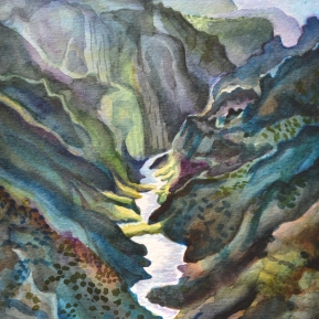 """Black Canyon of the Gunnison"" - Watercolor - 9"" x 13"" - SOLD"
