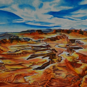 """Canyonlands Overlook"" watercolor - 18""x 24"" - NFS"