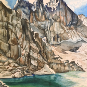 "'Chasm Lake' - Watercolor - 9"" x 13"" - SOLD"