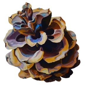 "Limber Pinecone - Acrylic on Panel - 12"" x 12"" - Available for Purchase"