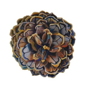 "Ponderosa Pine Cone - Acrylic on Panel - 18"" x 18"" - Available for Purchase"